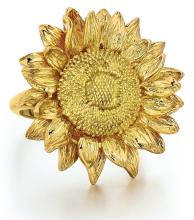 Asprey, 18kt Yellow Gold Lady's Sunflower Ring