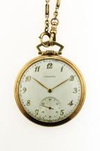 Longines, 14kt Yellow Gold Open Face Pocket Watch