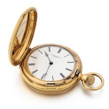 Tiffany & Co. 18kt Yellow Gold Hunter Case Pocket Watch