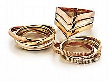 14kt Gold Lady's Rings, 3pc
