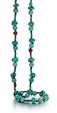 Sterling Silver and Turquoise Beaded Necklace