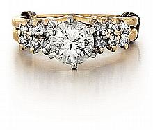 14kt Yellow Gold and Diamond Lady's Ring