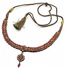 Mughal Style Gold, Ruby and Diamond Lady's Necklace