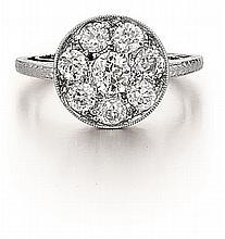 Platinum and Diamond Lady's Ring