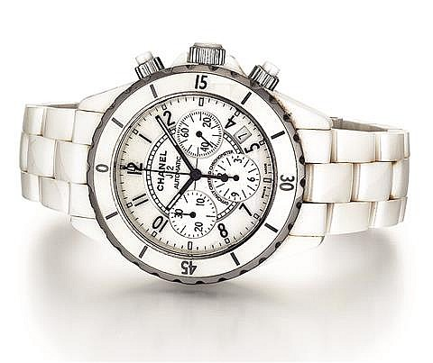 Chanel J12 White Ceramic and Stainless Steel Automatic Lady's Wrist Watch