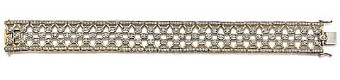14kt Yellow and White Gold and Diamond Lady's Bracelet