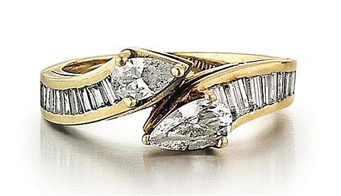 14kt Yellow and White Gold and Diamond Lady's Ring