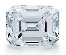 Platinum and 3.77ct. Emerald Cut Diamond Lady's Ring