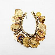 Yellow Gold Charm Bracelet