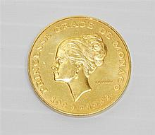 Monegasque 22kt Yellow Gold Coin