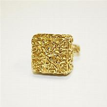 18kt Yellow Gold Geometric Ring