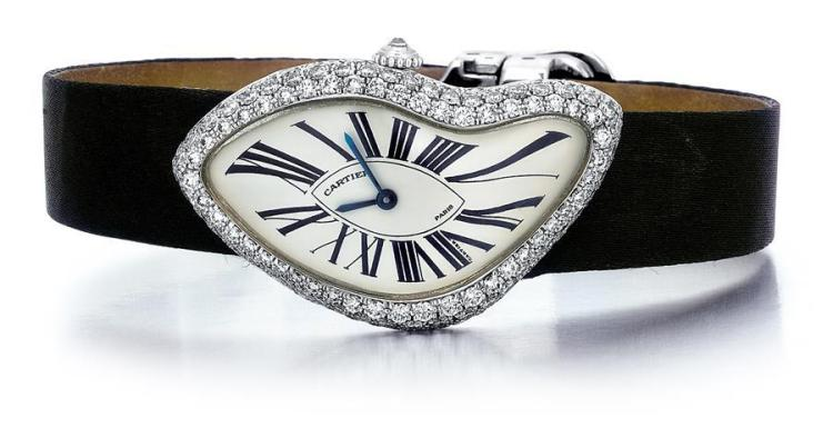 """Cartier, French, 18kt White Gold and Diamond Lady's """"Crash"""""""