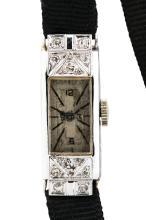 Art Deco, Platinum and Diamond Lady's Wrist Watch