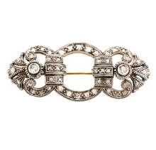 Antique Silver and Diamond Lady's Brooch