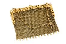 14kt Yellow Gold, Diamond and Sapphire Lady's Purse