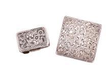 European Silver Boxes, 2 pcs