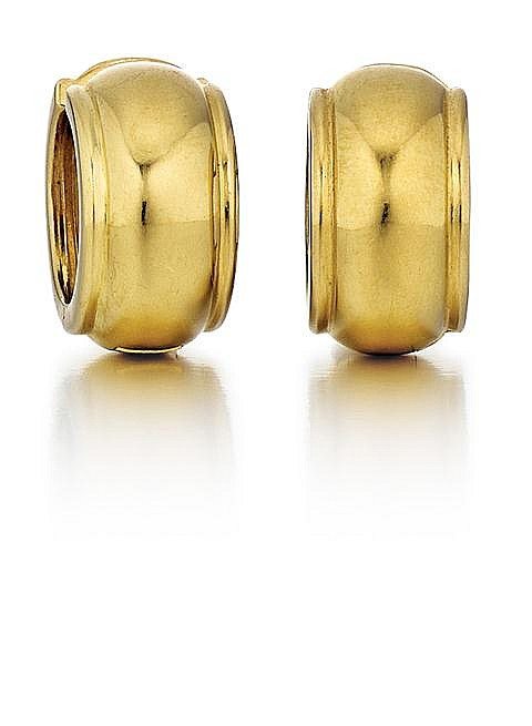 Tiffany & Co. 18kt Yellow Gold Earrings, Pair