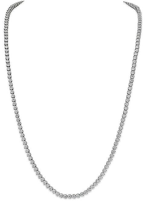 18kt White Gold and Diamond Lady's Necklace, 30