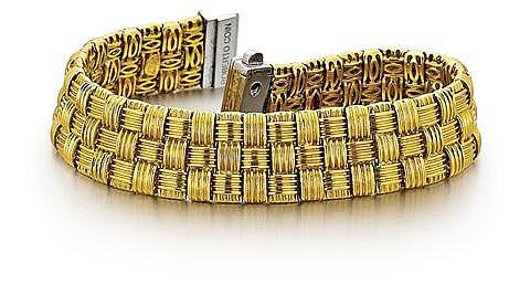 Roberto Coin, 18kt Yellow Gold, Diamond Lady's Bracelet