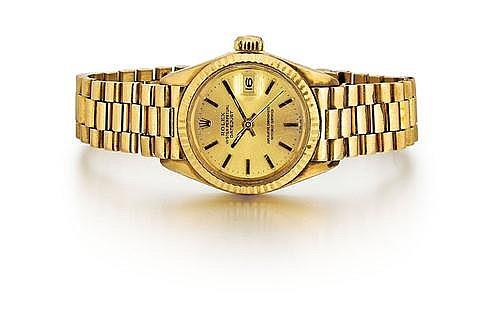 Rolex 18kt Yellow Gold Lady's Wrist Watch