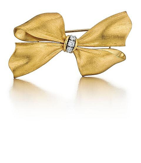 18kt Yellow Gold and Diamond Lady's Pin