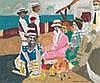 MAXWELL BENNETT BATES, R.C.A   PICNIC NEAR THE SEA