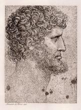 Leonardo da Vinci Head of an Apostle 1893 print