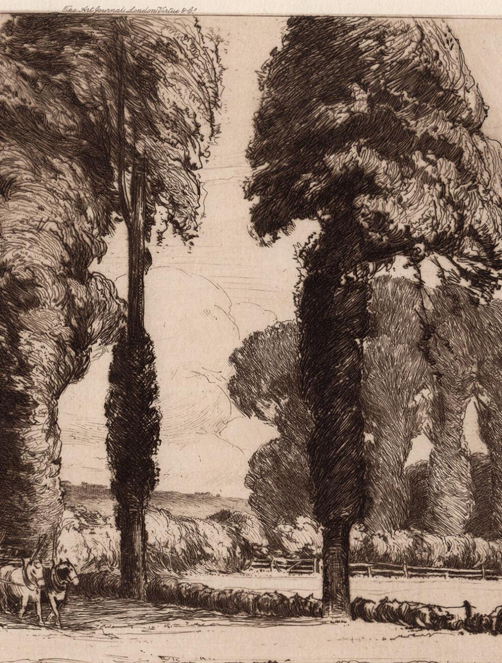 ORIGINAL Luke Taylor Etching The End of the Day  Custom Framed SIGNED Gallery Certificate Included