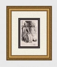 1873 Alphonse Legros Peasant Woman etching signed