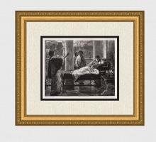 1887 Alma Tadema Roman Life woodcut signed