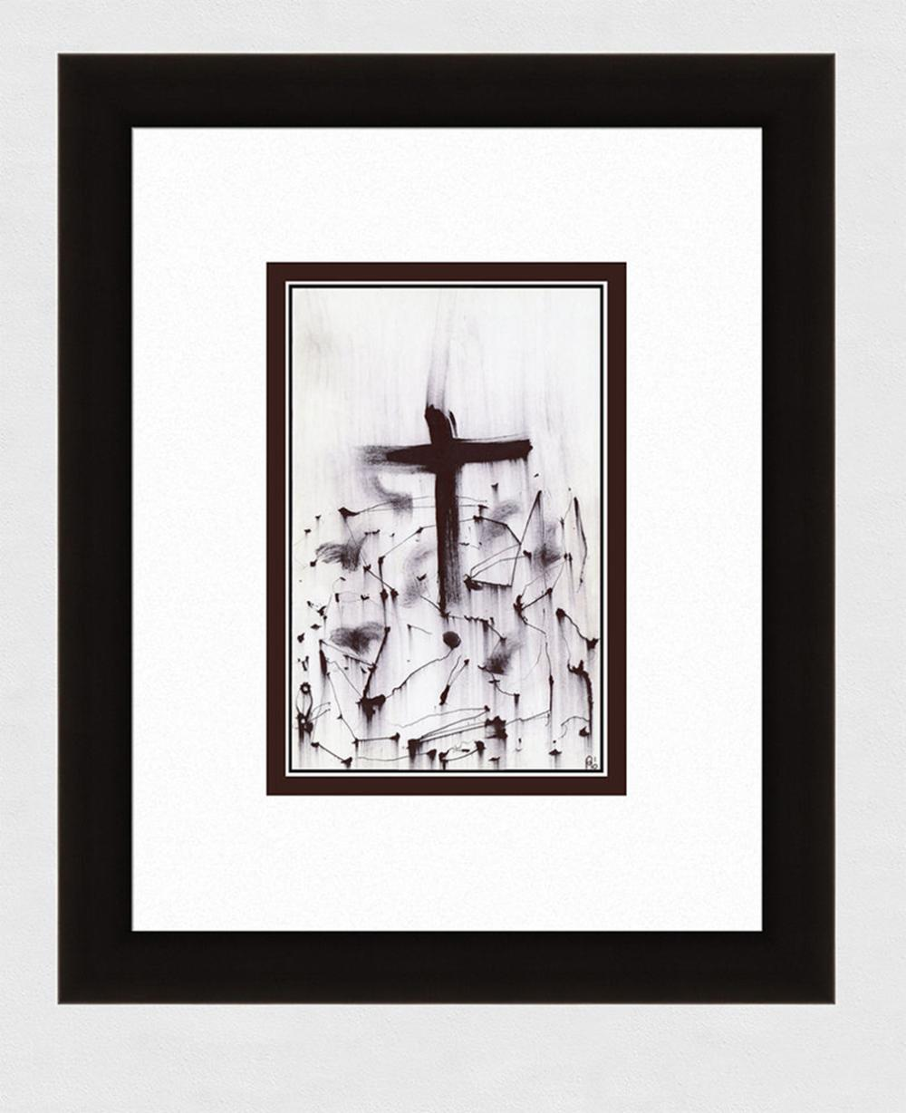 Patrick Mcdowell Crucifixion #7 Ink on paper signed