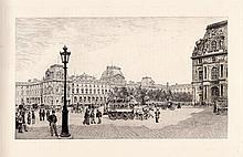 A.P. Martial The Louvre Etching 1800s