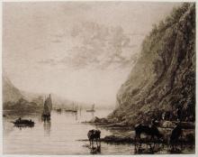 Aalbert Cuijp River Landscape etching