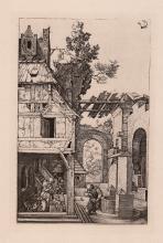 Albrecht Durer The Nativity engraving