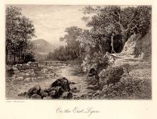 Alexander Ansted etching landscape 1800s