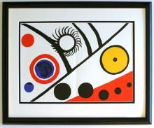 Alexander Calder Faces Lithograph Framed