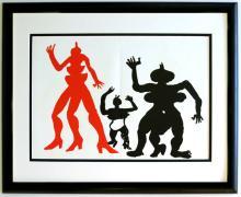 Alexander Calder Lithograph Framed Figures