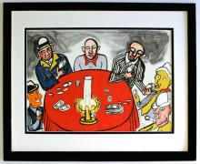 Alexander Calder Lithograph Framed Poker