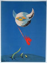 Andre Masson 1938 lithograph The Moon