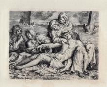Annibale Carrachi Pitea etching 1800's