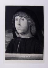 Antonello Da Messina Portrait etching