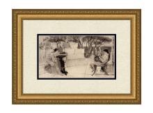 Lawrence Alma Tadema Sappho and Alcaeus SILK etching signed