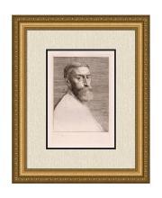 Alphonse Legros Portrait of E. J. Poynter Etching