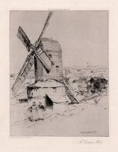 Charles John Watson A Sussex Mill 1906 Etching