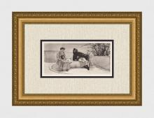 Alma Tadema Romance 1892 Antique Print
