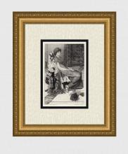 Alma Tadema 1883 Quiet Pets Antique Etching