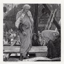Sir Lawrence Alma Tadema Architecture in Ancient Rome 1878 engraving