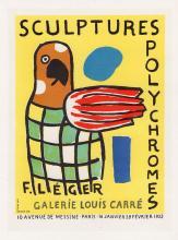Fernand Leger Sculptures Polychromes 1959 Lithograph Signed