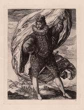 Goltzius The Standard Bearer Engraving