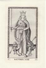 Mantegna Tarocchi Tarot Card engraving 15th C.